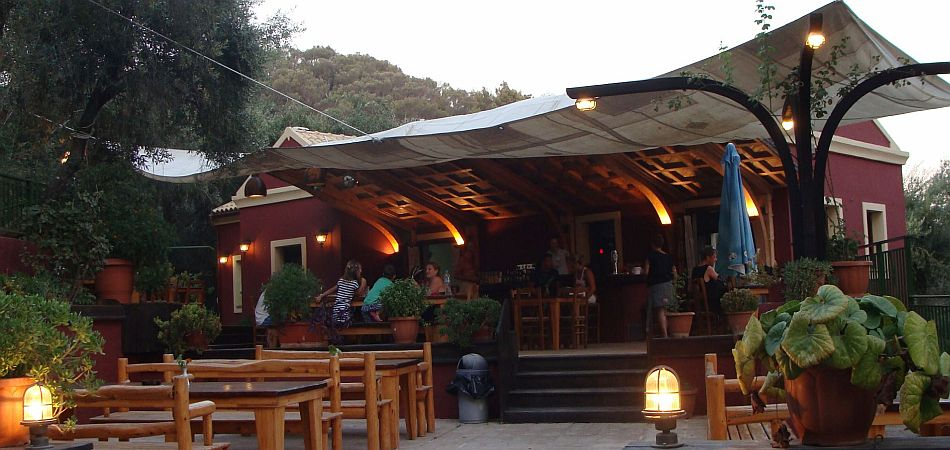 Traditional Corfiot Restaurant at Mirtiotissa Beach, Corfu